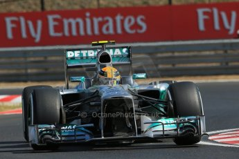 World © Octane Photographic Ltd. F1 Hungarian GP - Hungaroring. Friday 26th July 2013. F1 Practice 1. Mercedes AMG Petronas F1 W04 – Lewis Hamilton. Digital Ref : 0758lw1d0816