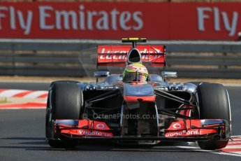 World © Octane Photographic Ltd. F1 Hungarian GP - Hungaroring. Friday 26th July 2013. F1 Practice 1. Vodafone McLaren Mercedes MP4/28 - Sergio Perez . Digital Ref : 0758lw1d0836