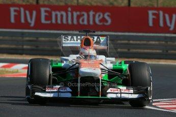 World © Octane Photographic Ltd. F1 Hungarian GP - Hungaroring. Thursday  25th July 2013. F1 Practice 1. Sahara Force India VJM06 - Paul di Resta. Digital Ref : 0758lw1d0852