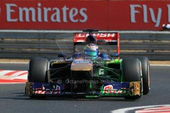 World © Octane Photographic Ltd. F1 Hungarian GP - Hungaroring. Friday 26th July 2013. F1 Practice 1. Scuderia Toro Rosso STR8 - Jean-Eric Vergne. Digital Ref : 0758lw1d0863