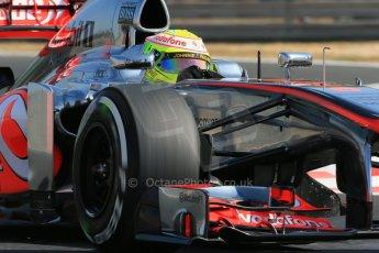 World © Octane Photographic Ltd. F1 Hungarian GP - Hungaroring. Friday 26th July 2013. F1 Practice 1. Vodafone McLaren Mercedes MP4/28 - Sergio Perez . Digital Ref : 0758lw1d0889