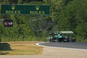 World © Octane Photographic Ltd. F1 Hungarian GP - Hungaroring. Friday 26th July 2013. F1 Practice 1. Caterham F1 Team CT03 - Giedo van der Garde. Digital Ref : 0758lw1d0998