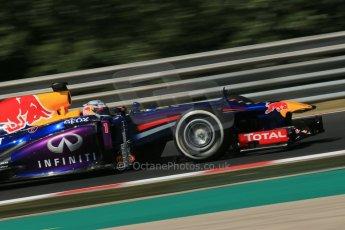 World © Octane Photographic Ltd. F1 Hungarian GP - Hungaroring. Friday 26th July 2013. F1 Practice 1. Infiniti Red Bull Racing RB9 - Sebastian Vettel. Digital Ref : 0758lw1d1074