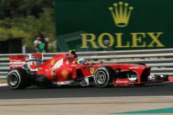 World © Octane Photographic Ltd. F1 Hungarian GP - Hungaroring. Friday 26th July 2013. F1 Practice 1. Scuderia Ferrari F138 - Felipe Massa. Digital Ref : 0758lw1d1081