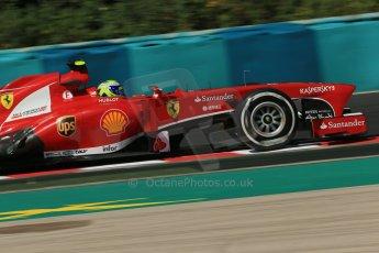 World © Octane Photographic Ltd. F1 Hungarian GP - Hungaroring. Friday 26th July 2013. F1 Practice 1. Scuderia Ferrari F138 - Felipe Massa. Digital Ref : 0758lw1d1088