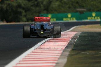 World © Octane Photographic Ltd. F1 Hungarian GP - Hungaroring. Friday 26th July 2013. F1 Practice 1. Vodafone McLaren Mercedes MP4/28 - Jenson Button. Digital Ref : 0758lw1d1225