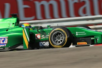 World © Octane Photographic Ltd. GP2 Hungarian GP, Hungaroring, Friday 26th July 2013. Qualifying. Sergio Canamasas – EQ8 Caterham Racing. Digital Ref: 0761lw1d2809