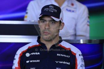World © Octane Photographic Ltd. F1 Hungarian GP - Hungaroring. Thursday Press Conference. 25th July 2013. Williams FW35 - Pastor Maldonado. Digital Ref : 0756lw1d0456