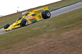 World © Octane Photographic Ltd. Masters Testing – Thursday 4th April 2013. FIA Masters Historic Formula One Championship. Bob Berridge. Ex-Emerson Fittipaldi F5A2. Digital ref : 0629ce1d0434