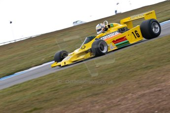 World © Octane Photographic Ltd. Masters Testing – Thursday 4th April 2013. FIA Masters Historic Formula One Championship. Bob Berridge. Ex-Emerson Fittipaldi F5A2. Digital ref : 0629ce1d0435
