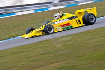 World © Octane Photographic Ltd. Masters Testing – Thursday 4th April 2013. FIA Masters Historic Formula One Championship. Bob Berridge. Ex-Emerson Fittipaldi F5A2. Digital ref : 0629ce1d0646