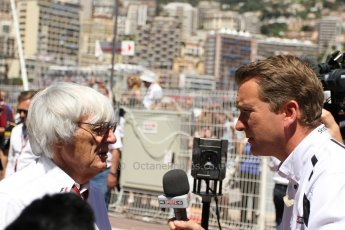World © Octane Photographic Ltd. F1 Monaco GP, Monte Carlo - Sunday 26th May - Race. Bernie Ecclestone talks to Sky Sports. Digital Ref : 0711lw7d9751