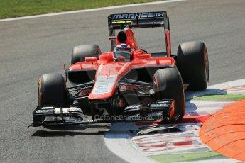 World © Octane Photographic Ltd. F1 Italian GP - Monza, Friday 6th September 2013 - Practice 2. Marussia F1 Team MR02 - Max Chilton. Digital Ref : 0813lw1d2599