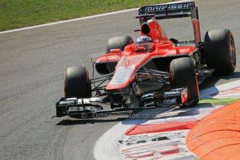World © Octane Photographic Ltd. F1 Italian GP - Monza, Friday 6th September 2013 - Practice 2. Marussia F1 Team MR02 - Jules Bianchi. Digital Ref : 0813lw1d2656