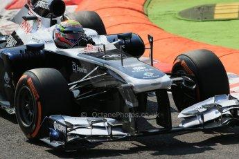 World © Octane Photographic Ltd. F1 Italian GP - Monza, Friday 6th September 2013 - Practice 2. Williams FW35 - Pastor Maldonado. Digital Ref : 0813lw1d2696