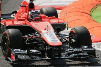 World © Octane Photographic Ltd. F1 Italian GP - Monza, Friday 6th September 2013 - Practice 2. Marussia F1 Team MR02 - Jules Bianchi. Digital Ref : 0813lw1d2760