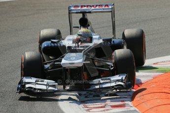 World © Octane Photographic Ltd. F1 Italian GP - Monza, Friday 6th September 2013 - Practice 2. Williams FW35 - Pastor Maldonado. Digital Ref : 0813lw1d2780