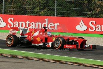World © Octane Photographic Ltd. F1 Italian GP - Monza, Saturday 7th September 2013 - Practice 3. Scuderia Ferrari F138 - Fernando Alonso. Digital Ref :