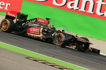World © Octane Photographic Ltd. F1 Italian GP - Monza, Saturday 7th September 2013 - Practice 3. Lotus F1 Team E21 - Kimi Raikkonen. Digital Ref :