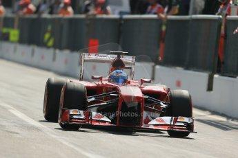 World © Octane Photographic Ltd. F1 Italian GP - Monza, Saturday 7th September 2013 - Qualifying. Scuderia Ferrari F138 - Fernando Alonso. Digital Ref :
