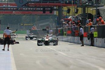 World © Octane Photographic Ltd. F1 Italian GP - Monza, Saturday 7th September 2013 - Qualifying. Sahara Force India VJM06 - Adrian Sutil. Digital Ref :
