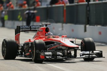 World © Octane Photographic Ltd. F1 Italian GP - Monza, Saturday 7th September 2013 - Qualifying. Marussia F1 Team MR02 - Jules Bianchi. Digital Ref :