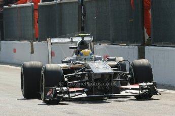 World © Octane Photographic Ltd. F1 Italian GP - Monza, Saturday 7th September 2013 - Qualifying. Sauber C32 - Esteban Gutierrez. Digital Ref :
