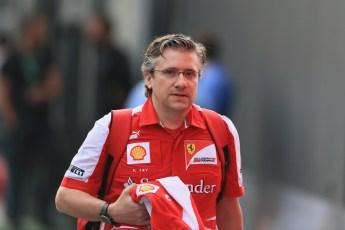 World © Octane Photographic Ltd. F1 Italian GP - Monza, Sunday 8th September 2013 - Paddock. Scuderia Ferrari - Pat Fry. Digital Ref :