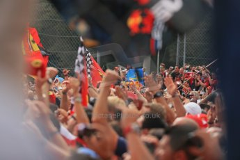 World © Octane Photographic Ltd. F1 Italian GP - Monza, Sunday 8th September 2013 - Podium. The crowd celebrate. Digital Ref :