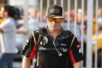 World © Octane Photographic Ltd. F1 Italian GP - Monza, Friday 6th September 2013 - Paddock. Lotus F1 Team E21 - Kimi Raikkonen. Digital Ref : 0811cb7d4861