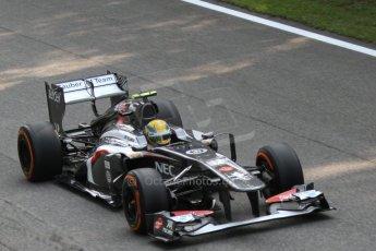 World © Octane Photographic Ltd. F1 Italian GP - Monza, Friday 6th September 2013 - Practice 1. Sauber C32 - Esteban Gutierrez. Digital Ref : 0811cb7d4913