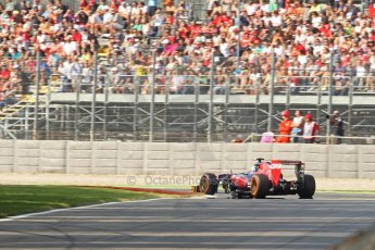 World © Octane Photographic Ltd. F1 Italian GP - Monza, Friday 6th September 2013 - Practice 1. Scuderia Toro Rosso STR 8 - Daniel Ricciardo. Digital Ref : 0811cb7d4991