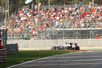 World © Octane Photographic Ltd. F1 Italian GP - Monza, Friday 6th September 2013 - Practice 1. Williams FW35 - Pastor Maldonado. Digital Ref : 0811cb7d5002