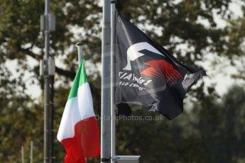 World © Octane Photographic Ltd. F1 Italian GP - Monza, Friday 6th September 2013 - Paddock - Track Atmosphere - F1 Flag. Digital Ref : 0811cb7d5045