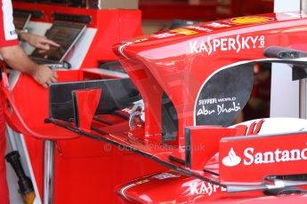 World © Octane Photographic Ltd. F1 Italian GP - Monza, Friday 6th September 2013 - Practice 1. Scuderia Ferrari F138 details. Digital Ref : 0811cb7d5070