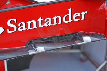 World © Octane Photographic Ltd. F1 Italian GP - Monza, Friday 6th September 2013 - Practice 1. Scuderia Ferrari F138 front wing endplate. Digital Ref : 0811cb7d5079