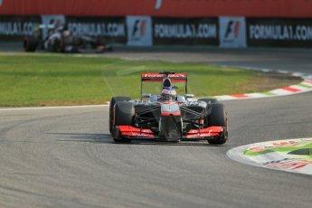 World © Octane Photographic Ltd. F1 Italian GP - Monza, Friday 6th September 2013 - Practice 1. Vodafone McLaren Mercedes MP4/28 - Jenson Button. Digital Ref : 0811lw1d1430