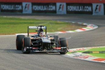 World © Octane Photographic Ltd. F1 Italian GP - Monza, Friday 6th September 2013 - Practice 1. Sauber C32 - Nico Hulkenberg. Digital Ref : 0811lw1d1433