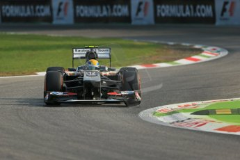 World © Octane Photographic Ltd. F1 Italian GP - Monza, Friday 6th September 2013 - Practice 1. Sauber C32 - Esteban Gutierrez. Digital Ref : 0811lw1d1444