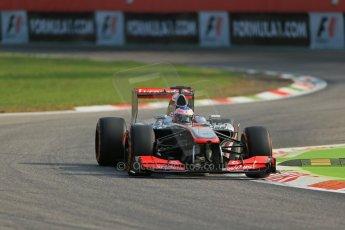World © Octane Photographic Ltd. F1 Italian GP - Monza, Friday 6th September 2013 - Practice 1. Vodafone McLaren Mercedes MP4/28 - Jenson Button. Digital Ref : 0811lw1d1471
