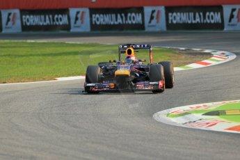 World © Octane Photographic Ltd. F1 Italian GP - Monza, Friday 6th September 2013 - Practice 1. Infiniti Red Bull Racing RB9 - Sebastian Vettel. Digital Ref :