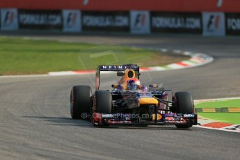 World © Octane Photographic Ltd. F1 Italian GP - Monza, Friday 6th September 2013 - Practice 1. Infiniti Red Bull Racing RB9 - Sebastian Vettel. Digital Ref : 0811lw1d1531
