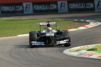 World © Octane Photographic Ltd. F1 Italian GP - Monza, Friday 6th September 2013 - Practice 1. Williams FW35 - Pastor Maldonado. Digital Ref : 0811lw1d1984