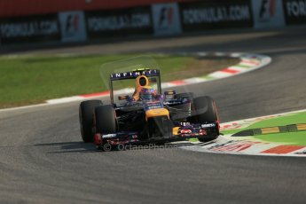 World © Octane Photographic Ltd. F1 Italian GP - Monza, Friday 6th September 2013 - Practice 1. Infiniti Red Bull Racing RB9 - Mark Webber. Digital Ref : 0811lw1d2109