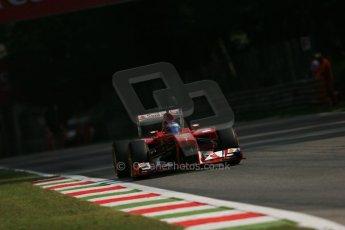 World © Octane Photographic Ltd. F1 Italian GP - Monza, Friday 6th September 2013 - Practice 1. Scuderia Ferrari F138 - Fernando Alonso. Digital Ref : 0811lw1d2358