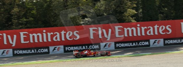 World © Octane Photographic Ltd. F1 Italian GP - Monza, Friday 6th September 2013 - Practice 1. Scuderia Ferrari F138 - Felipe Massa. Digital Ref : 0811lw1d42202