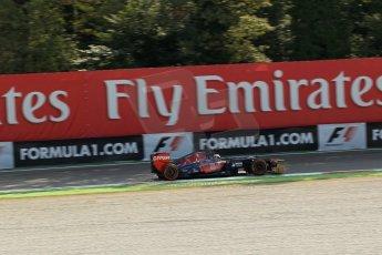 World © Octane Photographic Ltd. F1 Italian GP - Monza, Friday 6th September 2013 - Practice 1. Scuderia Toro Rosso STR8 - Jean-Eric Vergne. Digital Ref : v
