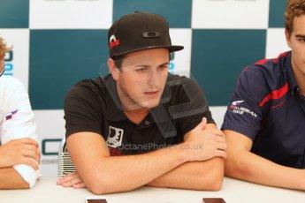 World © Octane Photographic Ltd. GP2 Italian GP, Monza, Saturday 7th September 2013. Race 1 conference. Fabio Leimer (winner) - Racing Engineering. Digital Ref: