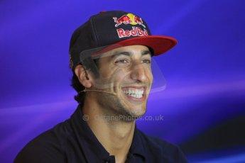 World © Octane Photographic Ltd. F1 Italian GP - Monza, Thursday 5th September 2013 - FIA Press Conference. Scuderia Toro Rosso STR 8 - Daniel Ricciardo. Digital Ref : 0809lw1d1112