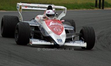 World © Octane Photographic Ltd/ Carl Jones. OSS F1 Demos. Snetterton. Alastair Davison's Toleman TG184, ex Ayrton Senna. Digital Ref: 0719cj7d0198